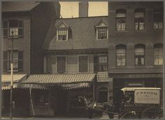 The Mather-Eliot House, near corner of Hanover and North Bennet Streets by Boston Public Library, via Flickr