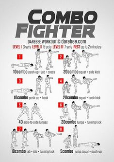 Combo Fighter Workout Master Self-Defense to Protect Yourself Boxing Training Workout, Boxer Workout, Mma Workout, Mma Training, Boxing Workout With Bag, Kick Boxing, Shadow Boxing Workout, Heavy Bag Workout, Workout Men