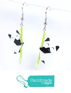 Boucles d'oreilles pandas contents en origamis - crochets inox à partir des LePaslaid https://www.amazon.fr/dp/B01M0M2S5S/ref=hnd_sw_r_pi_dp_BHUbzb9DKYN8R #handmadeatamazon