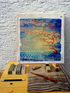 Tree in Clouds  Sublimation on Wood  Original 122 x by ChiTreeSign, €55.00
