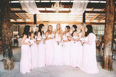 Blush dresses ,barn wedding
