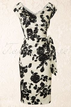 The Pretty Dress Company Black Rose Hourglass Dress 100 59 12555 20140410 0005W