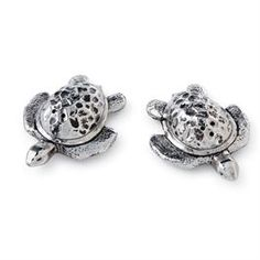Metal Turtle Salt & Pepper Set | Living | Mud Pie