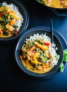 Homemade Thai red curry recipe with vegetables! So much better than takeout. cookieandkate.com: