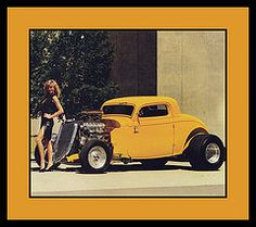 """'34 Ford Show Car, 1985 (Cosmo's """"ART"""" Gallery) Tags: ford automotive babe 1985 1934 customcar showcar vision:text=0786 vision:car=0591 vision:outdoor=0524"""