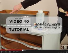 In this video, I'll show you step 2 – painting a solid first coat of Annie Sloan Chalk Paint® Duck Egg Blue and adding shadows and highlights with chalk paint. If A…