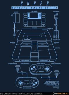 Super Entertainment System is available until 10/19 at OnceUponaTee.net starting at $12! #Nintendo #Gaming #VideoGames