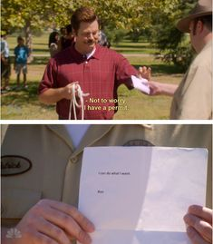 Libertarian humor- Parks and Recreation. Ron is damn cool!