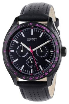 Women's Wrist Watches - ESPRIT Womens ES103012006 Orbus Black Multifunction Watch *** See this great product.