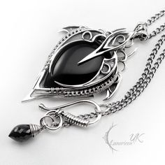 My kind of necklace :) would be a great birthday present.   LUNTIRNEX - silver and black onyx by LUNARIEEN