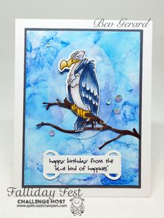 Art Impressions Ai ZooCrew Buzzard Set (Sku : Bluebird of Happiness. Sister Birthday Funny, Funny Birthday Cards, Birthday Humorous, Birthday Sayings, Birthday Images, Diy Birthday, Masculine Birthday Cards, Masculine Cards, Birthday Cards For Boyfriend