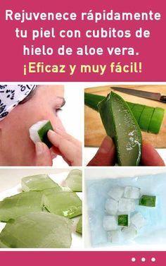 Rejuvenece rápidamente tu piel con cubitos de hielo de aloe vera. ¡Eficaz y muy fácil!