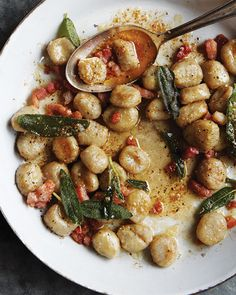 Baked Potato Gnocchi with Brown Butter, Pancetta, & Sage