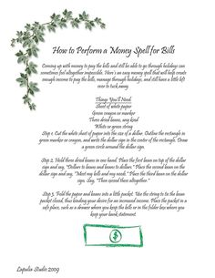 How to Perform a Money Spell for Bills