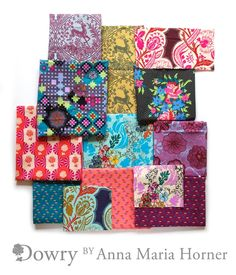 OMG! I want sooo bad! Anna Maria Horner's new line Dowry coming this fall! I can't wait!!!