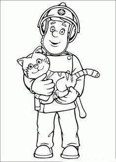 coloring page Fireman Sam on Kids-n-Fun. Coloring pages of Fireman Sam on Kids-n-Fun. More than coloring pages. At Kids-n-Fun you will always find the nicest coloring pages first! Coloring Pages To Print, Free Printable Coloring Pages, Coloring Book Pages, Coloring Pages For Kids, Coloring Sheets, Fireman Birthday, Fireman Party, Fireman Sam, Activities For Kids