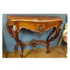Victorian console table in rosewood.  This table is also a planter, complete with lining. Planter Table, Planters, Victorian Console Tables, Entryway Tables, Table Decorations, House, Furniture, Ideas, Home Decor