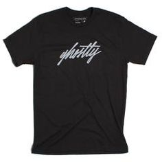 Ghostly Script Tee - Black