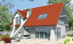 Case cu doua camere si mansarda Two Bedroom House, Old Houses, Attic, Mansions, House Styles, Outdoor Decor, Modern, Beautiful, Design
