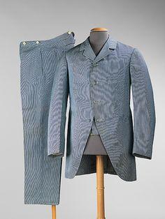 Suit Belle Jardinière, Paris  (French) Date: ca. 1900 Culture: French Medium: cotton, wool Accession Number: 2009.300.1003a–c The Metropolitan Museum of Art