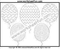 Spiral, Curved & Zig Zag Line Tracing – 1 Worksheet