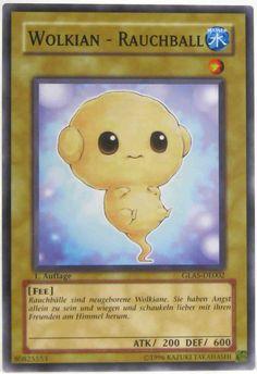 GLAS-DE002 Wolkian - Rauchball (EN Cloudian - Smoke Ball; FR Nuagien - Boule de Fumée; IT Nubiano - Palla di Fumo; ES Cloudian - Bola de Humo) Yu-Gi-Oh! Trading Card aus Gladiator's Assault; Set ID: GLAS; Rarity: Common; Kartentyp: Normale Monsterkarte; Kartennummer: 80825553; Release: 2007