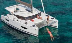 <p>40 foot sailing catamaran designed for pleasant active sailing. Share memorable times at sea or at anchor, on this extremely comfortable cruising boat.</p>