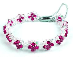 Beaded Bracelet Instructions | Free pattern for bracelet Roma | Beads Magic