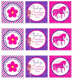 MIA AND ME PARTY - FAVOR TAGS - Mia and Me inspired - Printable, by JustAddFrosting, $3.50