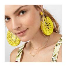 Best lady 2018 Colorful Stylish Large Tassel Drop Earrings For Women Bohemian Big Pendent Earrings Vacation Accessories Jewelry Tassel Drop Earrings, Fringe Earrings, Tassel Earrings, Crystal Earrings, Statement Earrings, Dangle Earrings, Silver Earrings, Crochet Earrings, Silver Jewelry