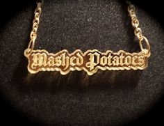 Gothic Mashed Potatoes Mirror Acrylic Necklace