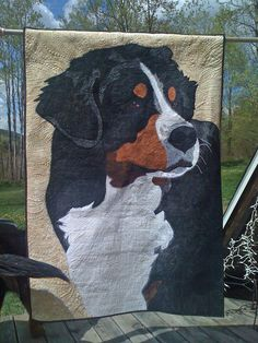 """Marshall""  My donation to the 2013 Bernese Mountain Dog National Specialty Health Fund Auction.  Sold this past May for $4500!!"