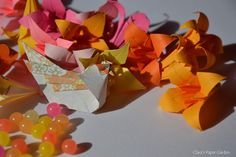 summer birds and origami lilies
