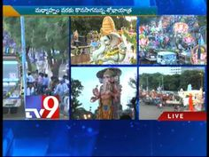 Thousands of Ganesh idols on the way to immersion in Hussain Sagar