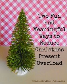 We have been following the Want, Need, Wear and Read holiday plan for several years.  It has made christmas lists and shopping so much less stressful.