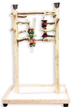 AFL3-Manzanita-Activity-Center-Parrot-Tree-Bird-Stand-Toy-Play-Gym-lik-Java-Wood
