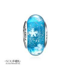Soufeel Frozen Sea Blue Murano Glass Charm 925 Sterling Silver Shop->http://www.soufeel.com/frozen-sea-blue-murano-glass-charm-925-sterling-silver.html