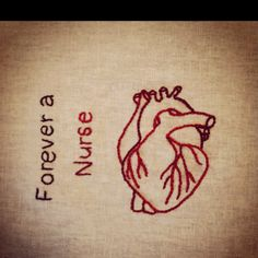 A little embroidery anatomical heart & nurse love for valentines day :)  @Rebecca Stutte