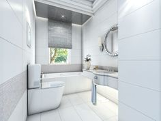 Image result for bathrooms with 12x24 white tiles
