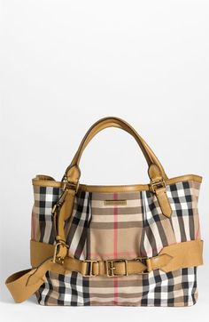 7612030eec76 Burberry  House Check  Fabric Tote available at Nordstrom Best Handbags
