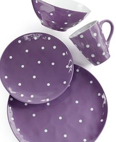 Maxwell /& Williams /'Sprinkle/' Purple Polkadot Bread /& Butter Plate