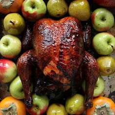 Red Wine-Lacquered Turkey With Spiced Butter