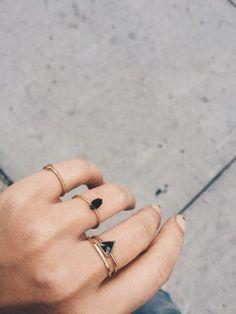 Jewels: gold ring ring black ring minimalist ring minimalist jewelry