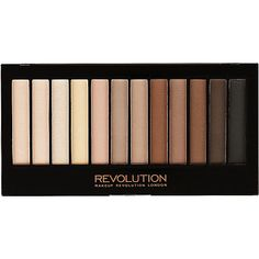 Makeup Revolution Iconic Elements Eye Shadow Palette.  I hear this is a vegan-friendly dupe for both of the Urban Decay Naked Basics 1 and 2 palettes (no carmine here!).