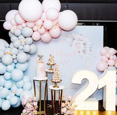 21st Bday Ideas, Birthday Balloon Decorations, Kids Party Decorations, Birthday Ideas, Party Ideas, Birthday Bash, Birthday Parties, Backyard Pool Parties, Kids Party Planner