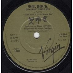 """7"""" 45RPM Sgt. Rock (Is Going To Help Me)/Living Through Another Cuba (Live)/Generals And Majors (Live) by XTC from Virgin"""