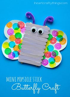I HEART CRAFTY THINGS: Popsicle Stick Butterfly Kids Craft