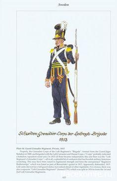Regno di Svezia - Schweden Grenadier - Corps Der Leibregts Brigade, 1813