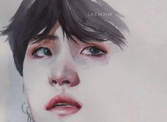 #suga #bts #btsfanart #watercolor #minyoongi #yoongi #lilmeowmeow #kpopfanart #art
