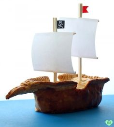 Not So Humble Pie: Strawberry Rhubarb Pie & Apple Pirate Ship Pie Cooking Humor, Food Humor, What's Cooking, Pirate Day, Pirate Birthday, Pirate Food, 3rd Birthday, Birthday Parties, Strawberry Rhubarb Pie